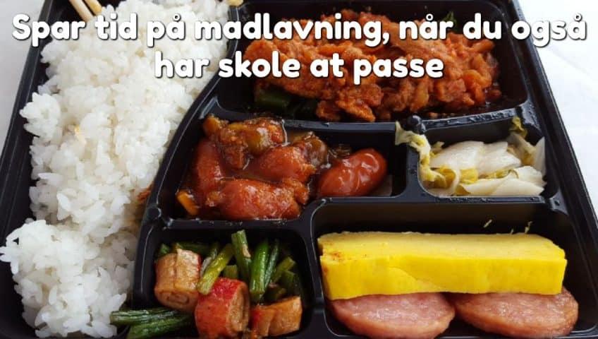 Spar tid på madlavning, når du også har skole at passe