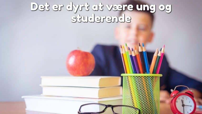 Det er dyrt at være ung og studerende